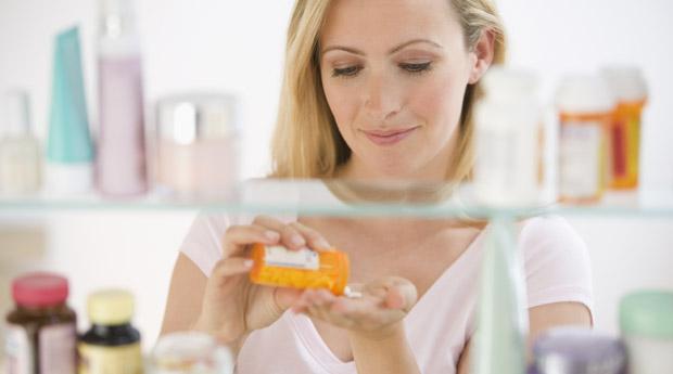 Прием антибиотиков в виде таблеток